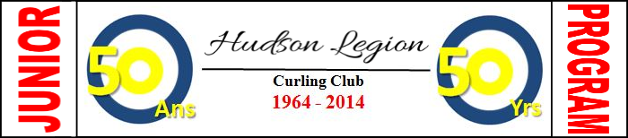 Hudson Legion Curling Club website navigation banner